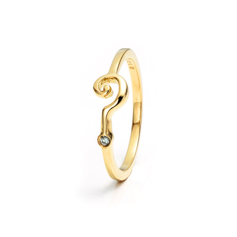 Question Mark Ring 18KT
