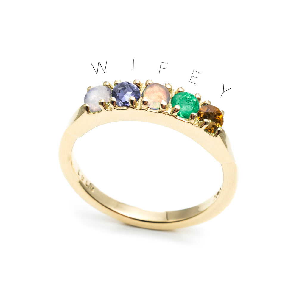 Custom Code Words Ring
