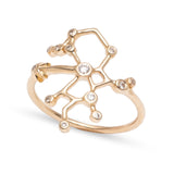 Zodiacs 14k & Diamond Sagittarius + Fire Ring