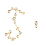 Zodiacs 14K & Diamond Scorpio + Water Stud Set