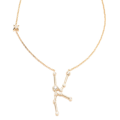 Zodiacs 14K & Diamond Taurus + Earth Necklace