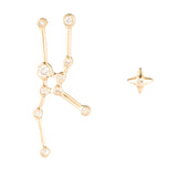 Zodiacs 14K & Diamond Taurus + Earth Stud Set