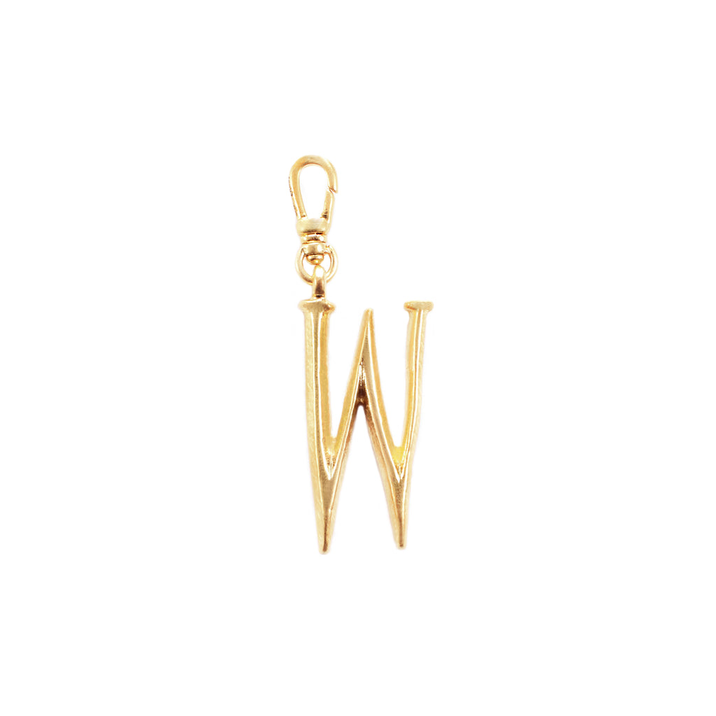 Plaza Letter W Charm - Small
