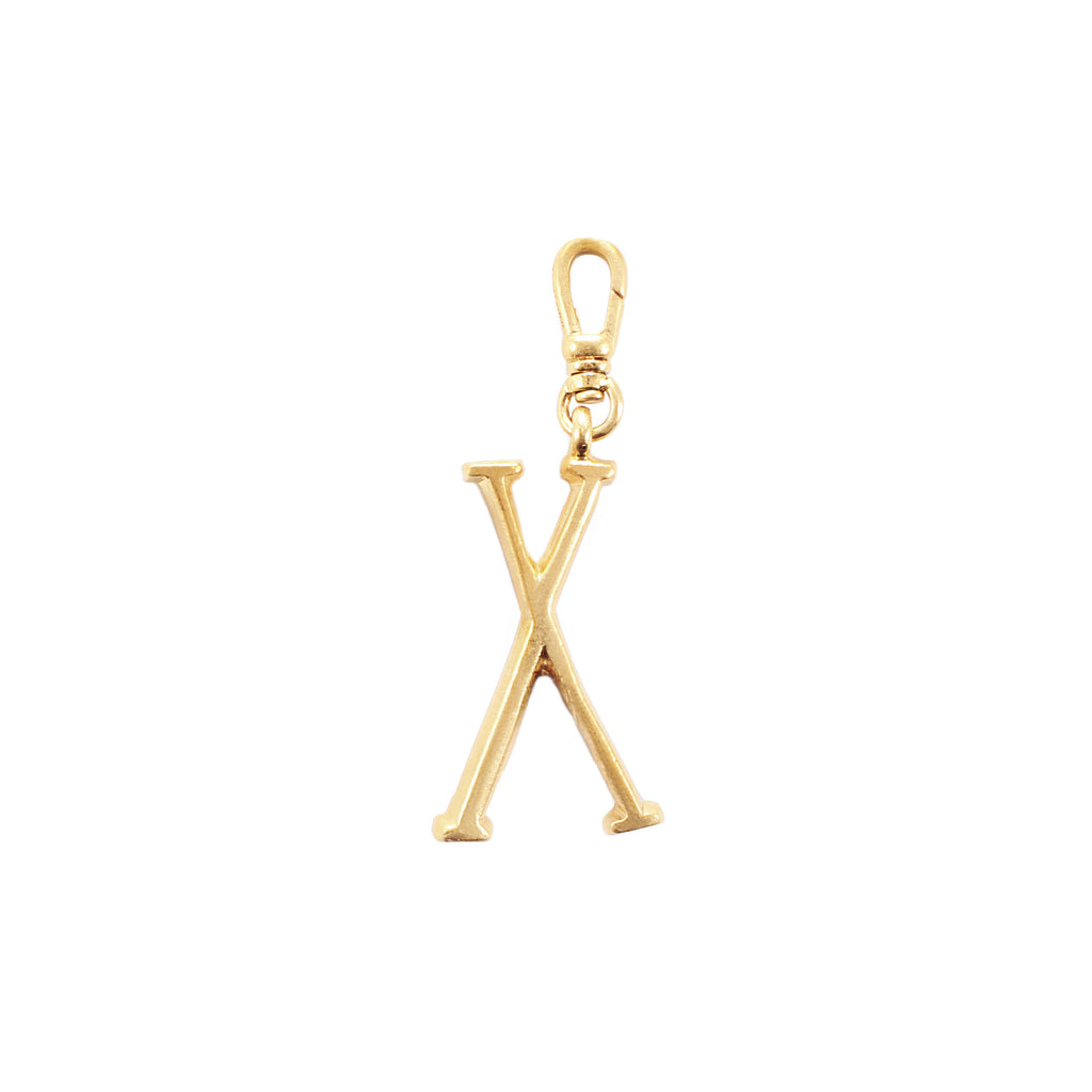 Plaza Letter X Charm - Small