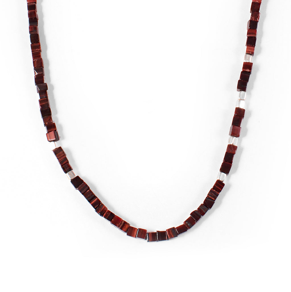George Frost Morse Code Tiger's Eye Necklace - Life - Photo