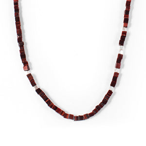 George Frost Morse Code Tiger's Eye Necklace - Life - Thumbnail