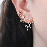 CODE Word Love Earring 14k Gold