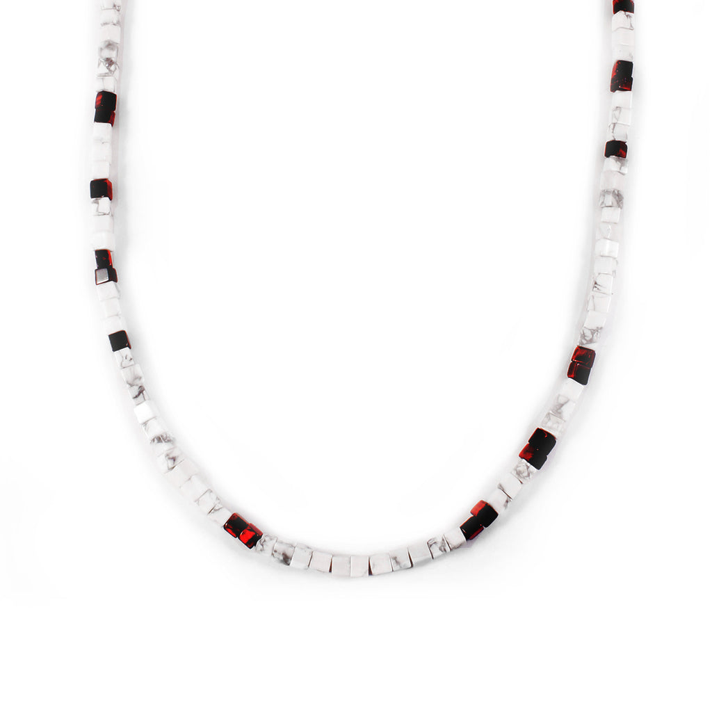 George Frost Morse Code Howlite & Tiger's Eye Necklace - Victory - Photo