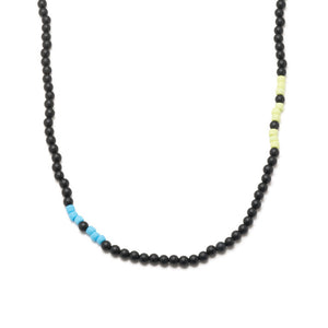 George Frost Morse Code Matte Black Onyx Necklace - Wise
