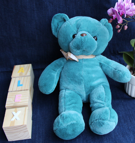 Big Blue Teddy Soft Toy