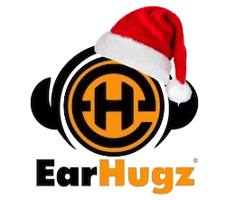 EarHugz Logo with Christmas Hat