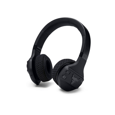 Bodybuilding headphones UA ProjectRock Edition in black