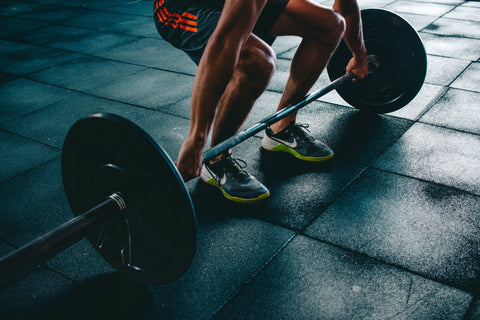 Bodybuilding Lifting Weight in Gym