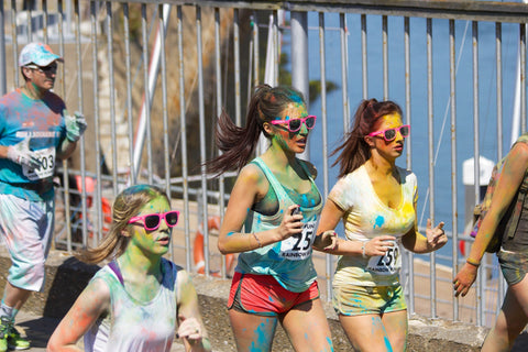 Makeup During Exercise Colour Run Paint