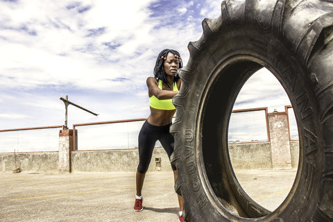 Female Resistance Training with Tyre