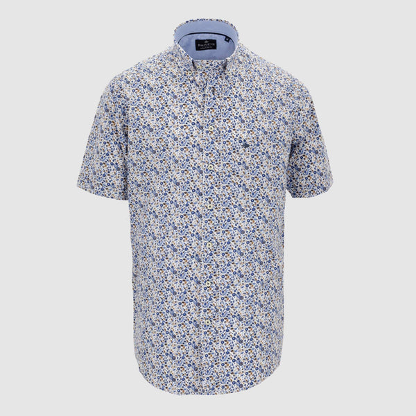 Camisa estampada manga corta regular fit 106695