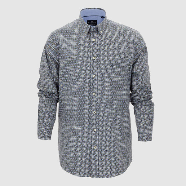 Camisa estampada corte regular fit 927699
