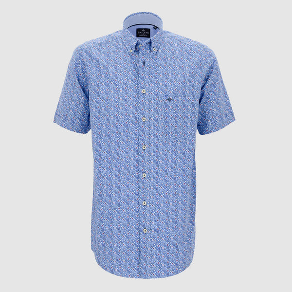 Camisa estampada manga corta regular fit 106680