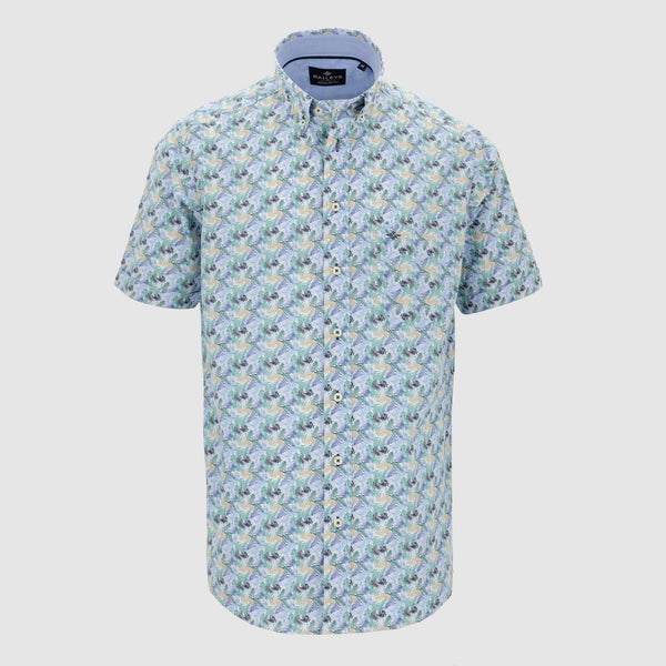 Camisa estampada manga corta regular fit 106690