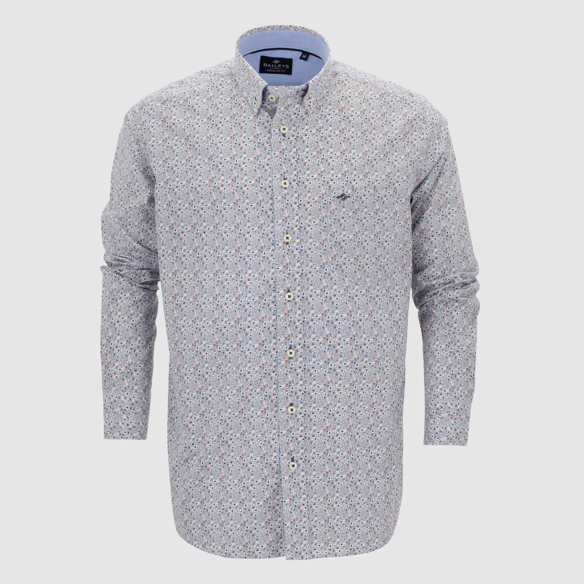 Camisa estampada regular fit 107679