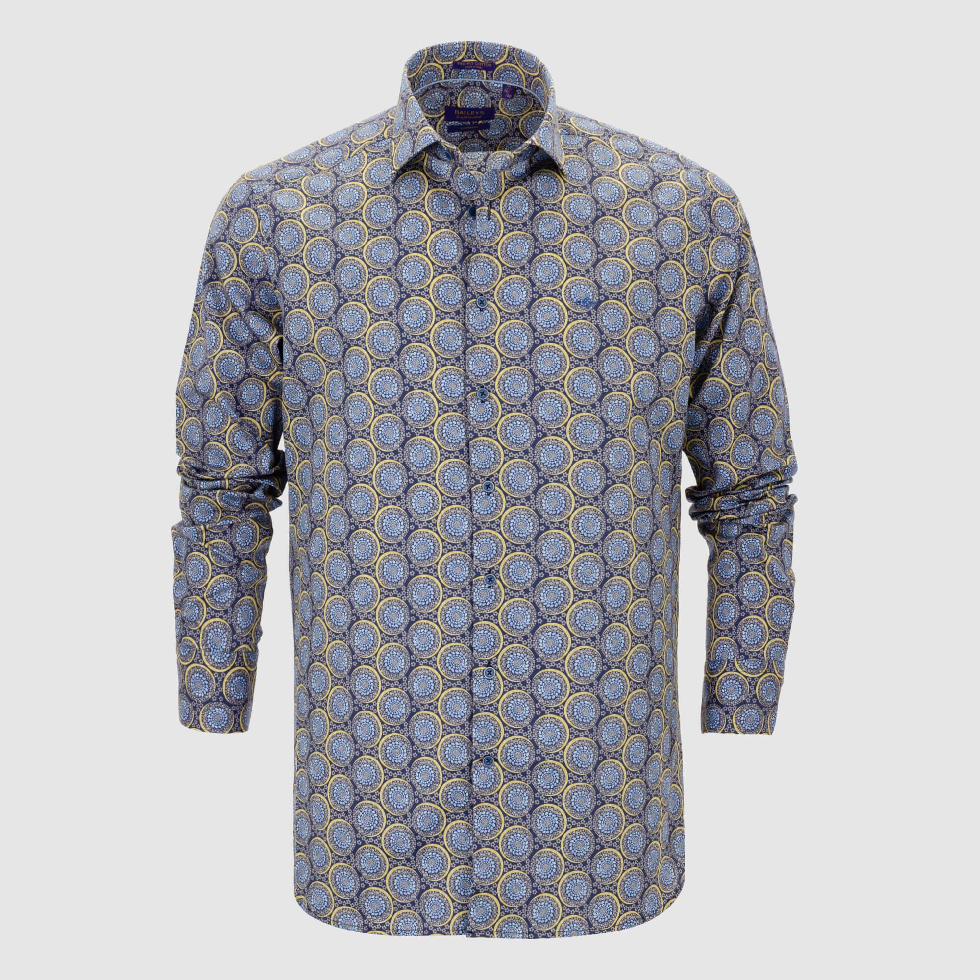 Camisa estampada diseño exclusivo slim fit 107852
