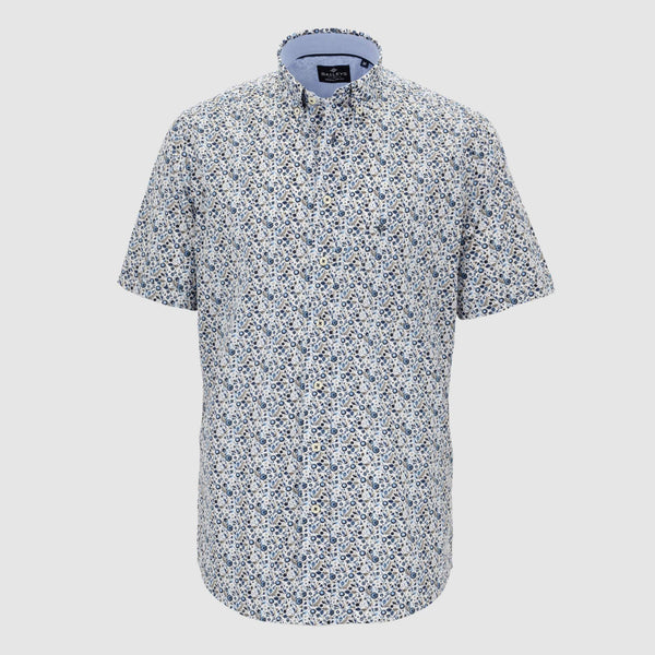 Camisa estampada manga corta regular fit 106687