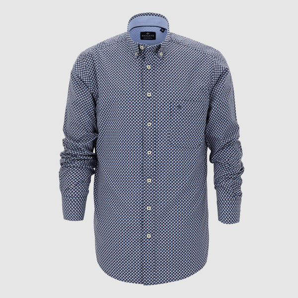 Camisa estampada corte regular fit 927690