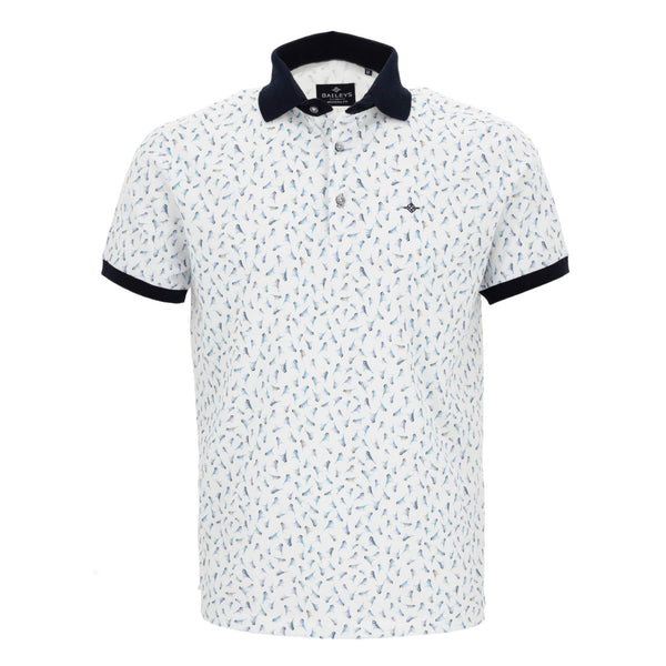 Polo estampado con corte slim fit 915282