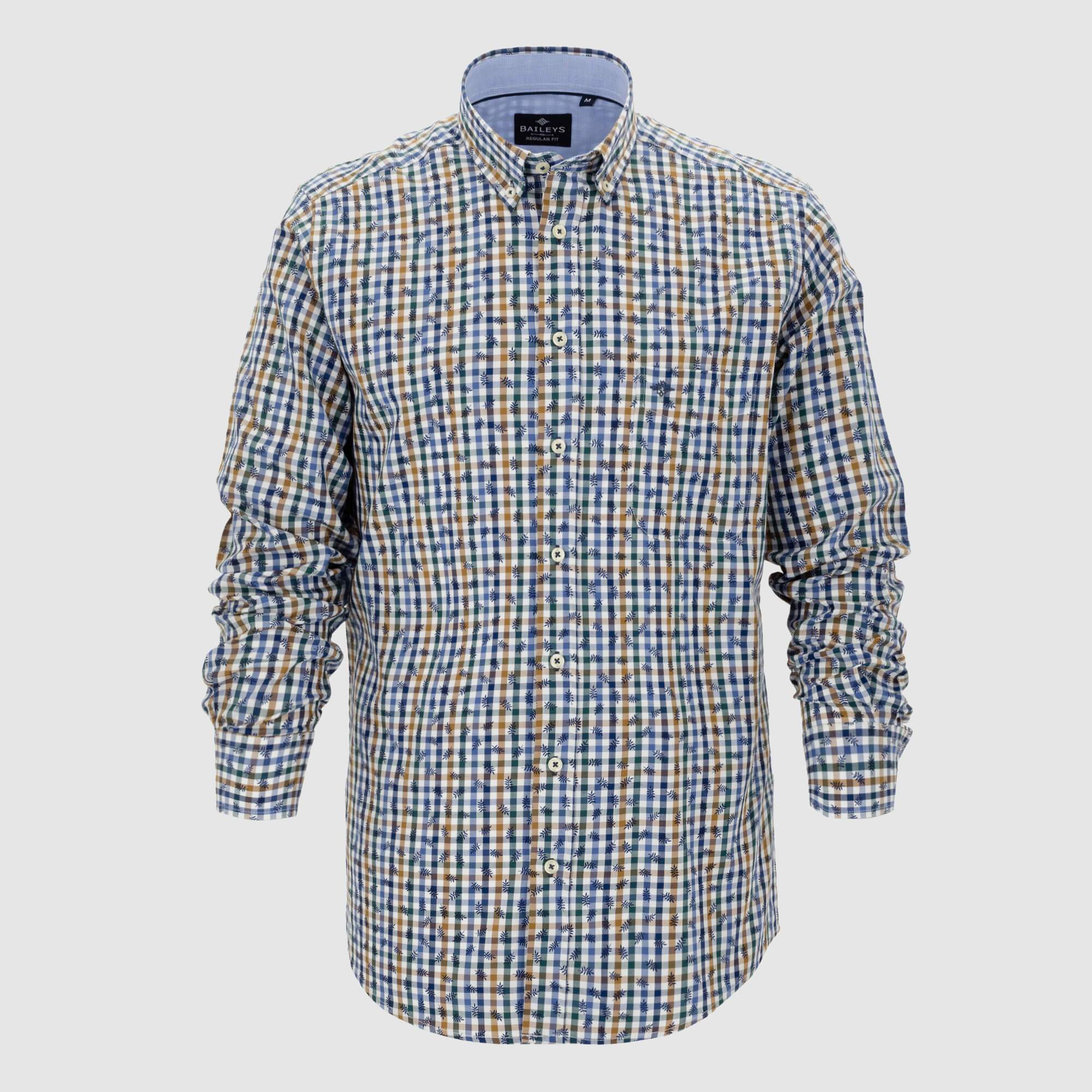 Camisa de cuadros corte regular fit 927694