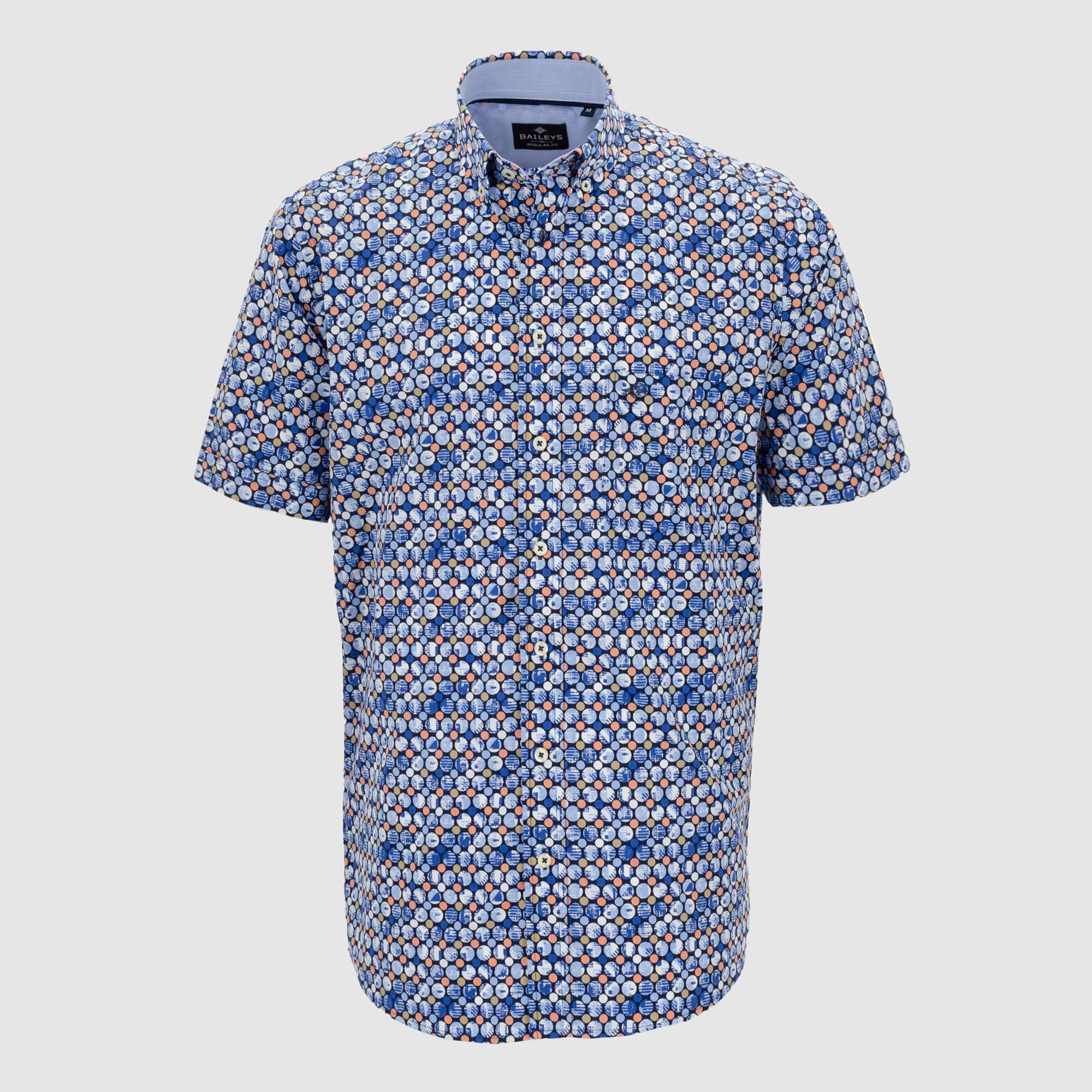 Camisa estampada manga corta regular fit 106686