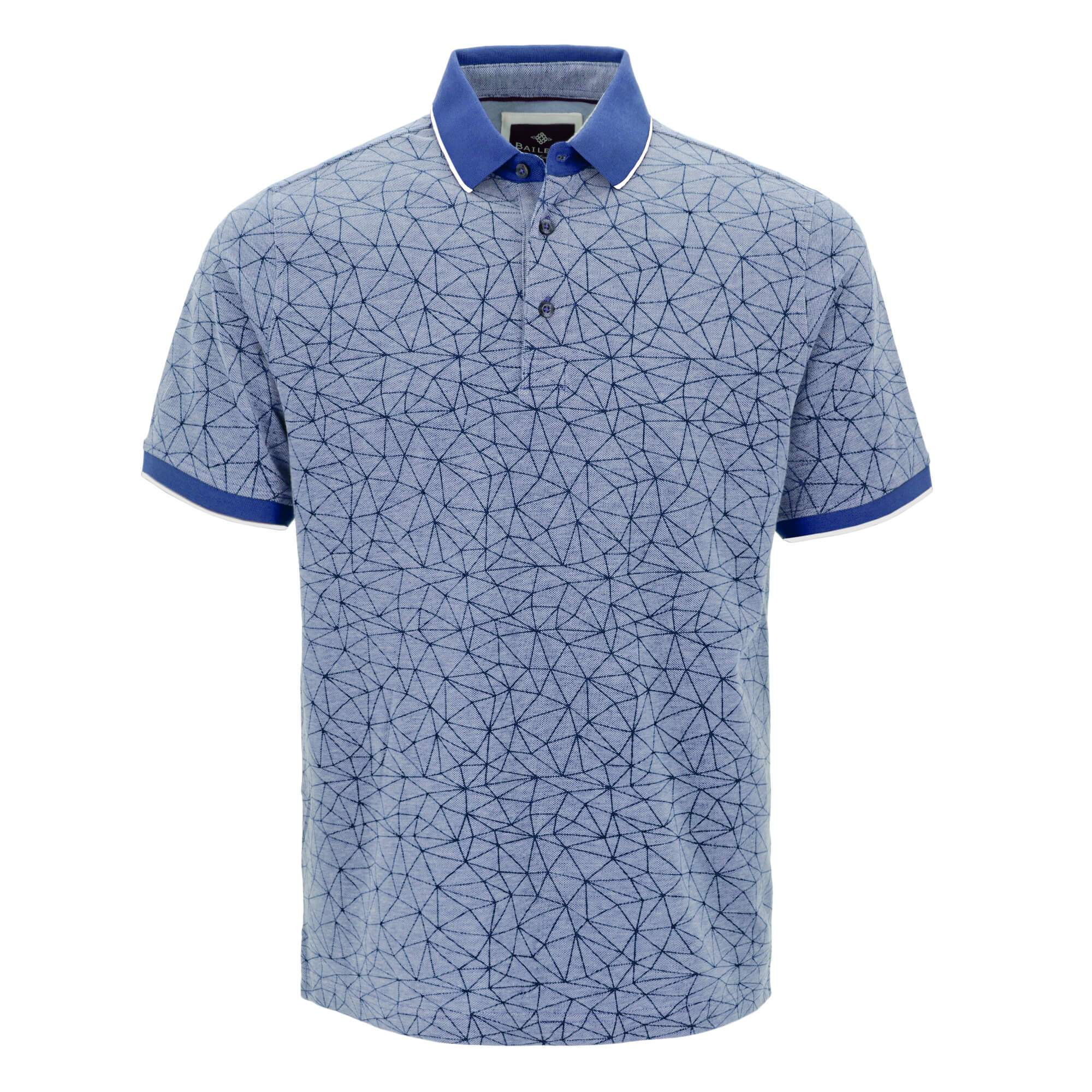 Polo estampado, con corte regular fit 915209
