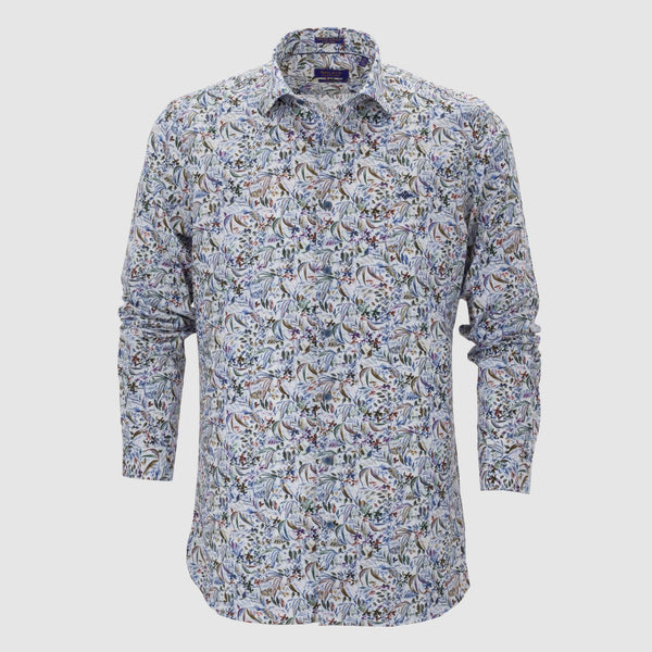 Camisa estampada slim fit 207811