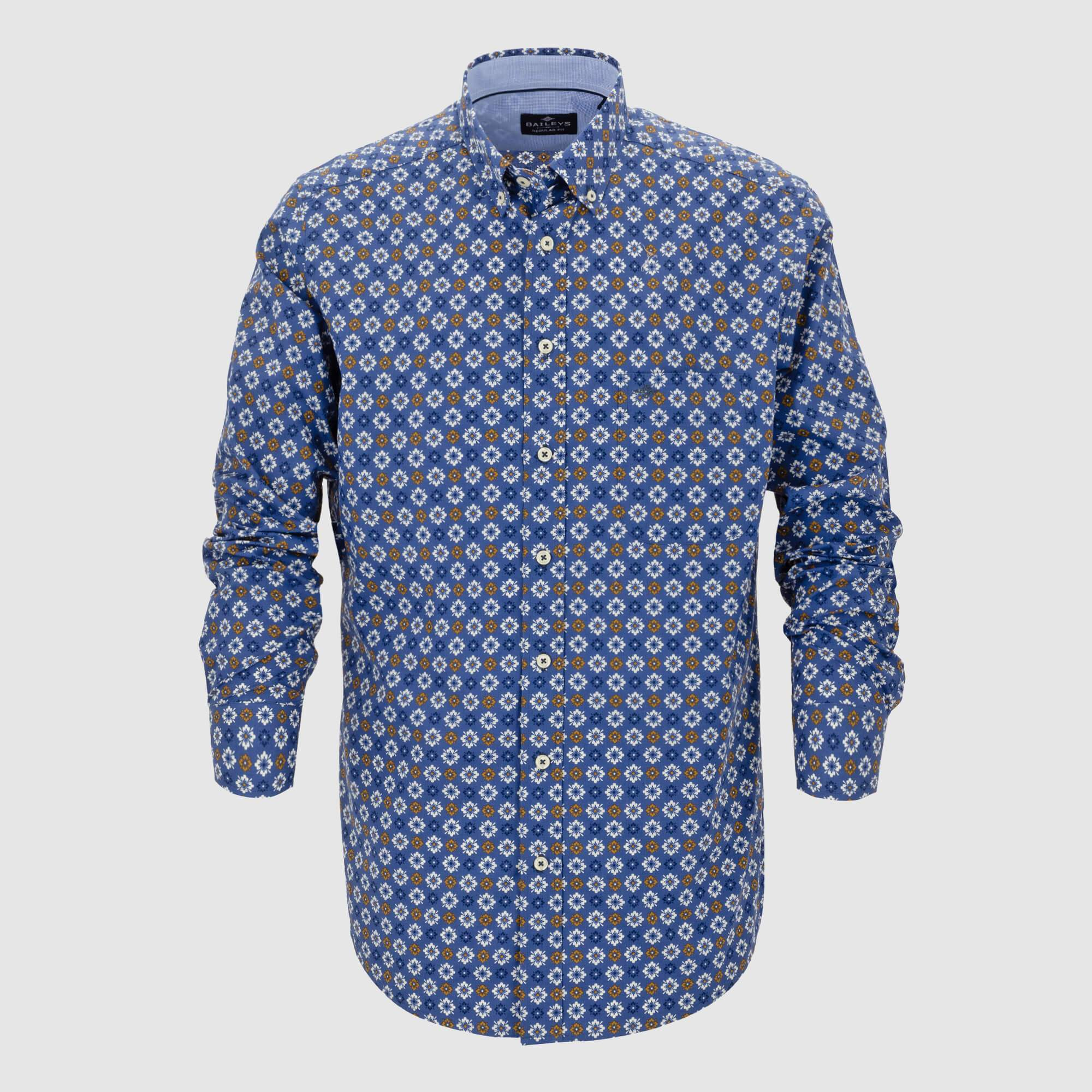 Camisa estampada corte regular fit 927682
