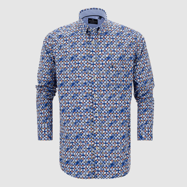 Camisa estampada regular fit 107686