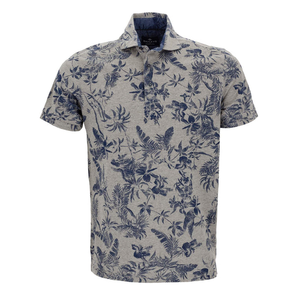Polo estampado con corte slim fit 916590