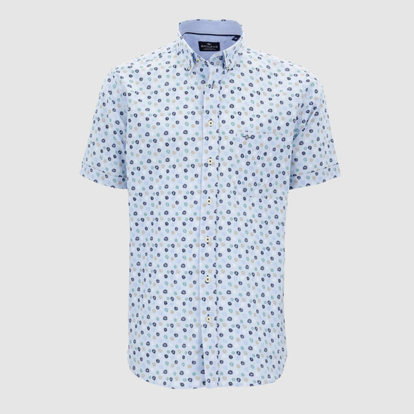 Camisa estampada manga corta regular fit 106691