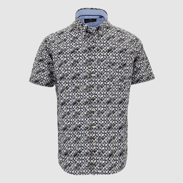 Camisa estampada manga corta regular fit 106699