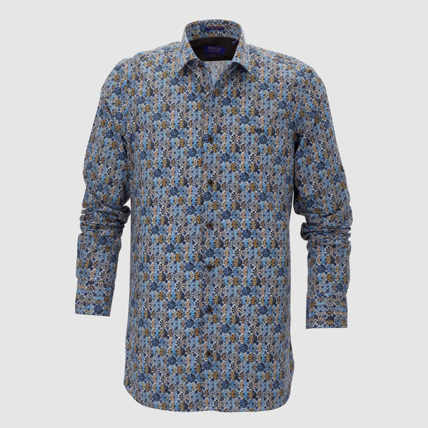 Camisa estampada slim fit 207840
