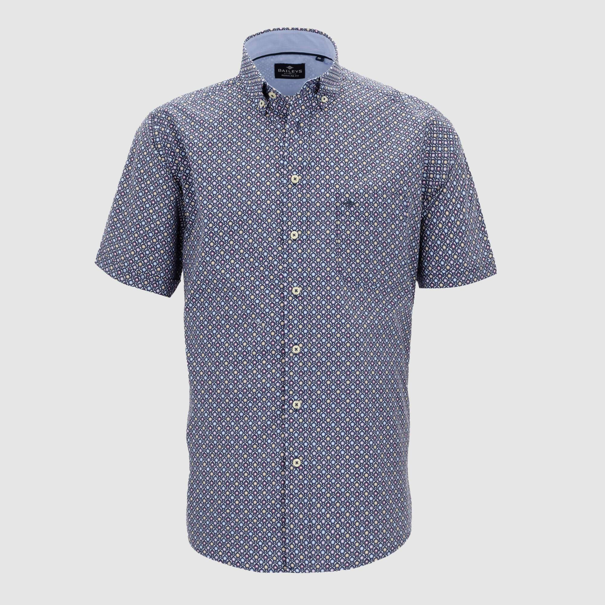 Camisa estampada manga corta regular fit 106681