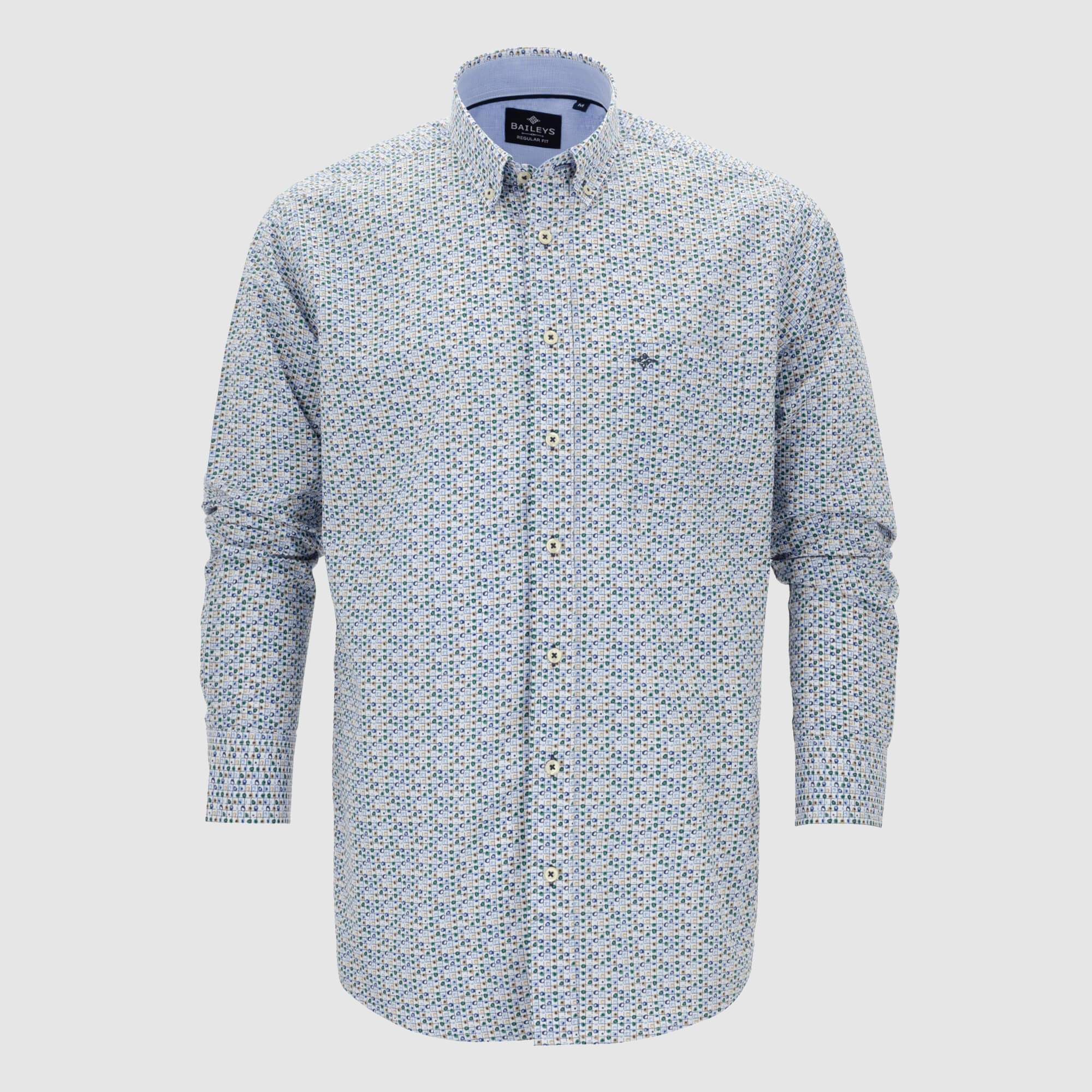 Camisa estampada regular fit 107693