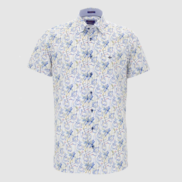 Camisa estampada diseño slim Fit 106805