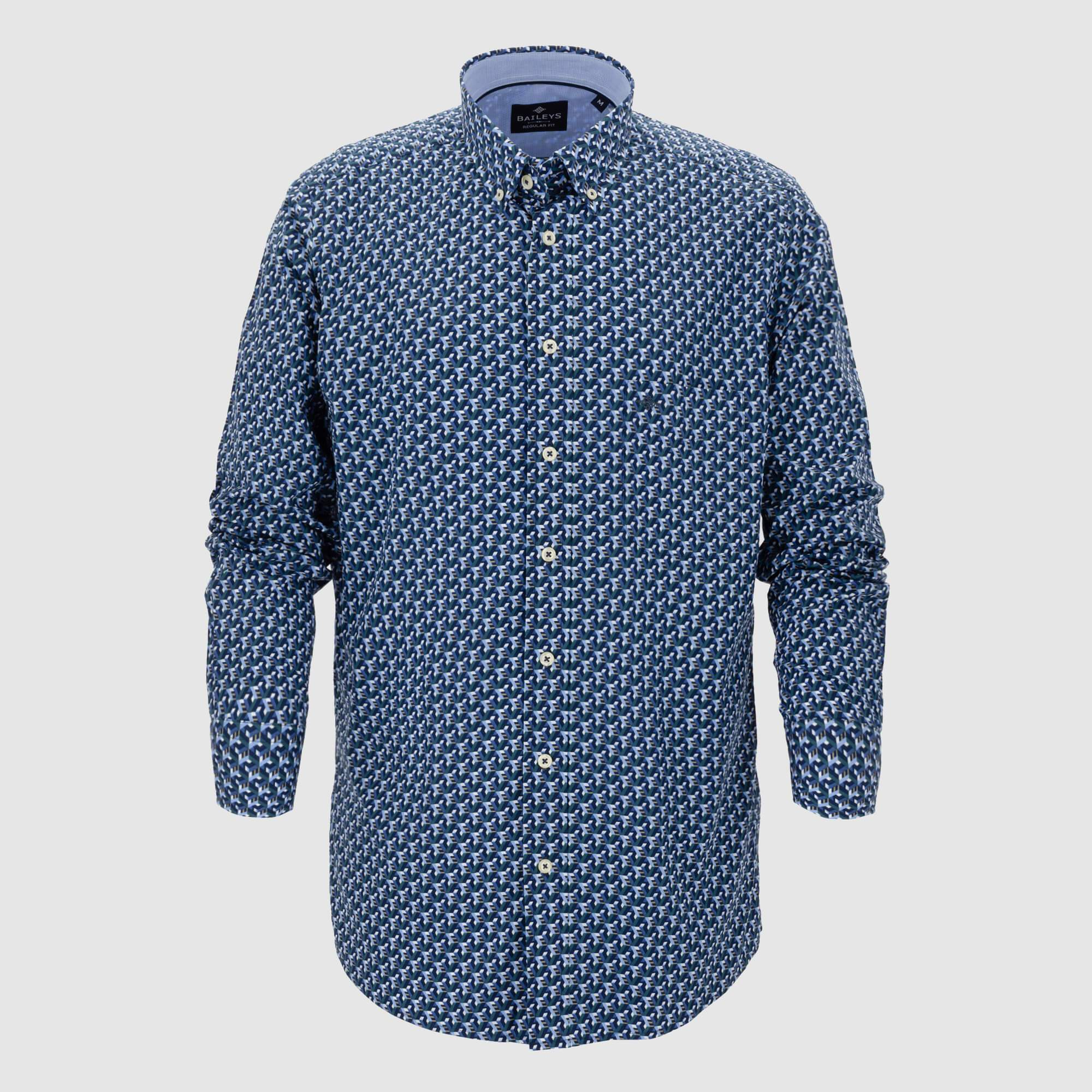 Camisa estampada corte regular fit 927695