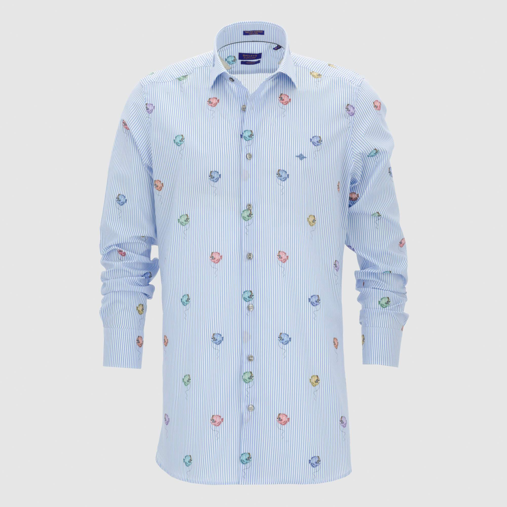 Camisa estampada diseño slim fit 107835