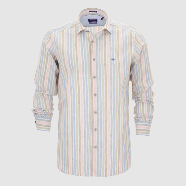 Camisa casual de rayas slim fit 107832