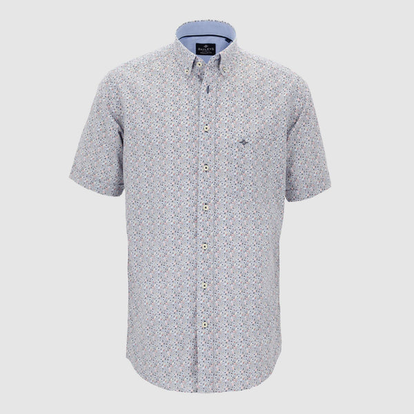 Camisa estampada manga corta regular fit 106679