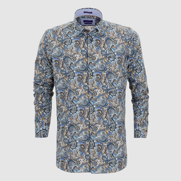 Camisa estampada diseño exclusivo slim fit 927818