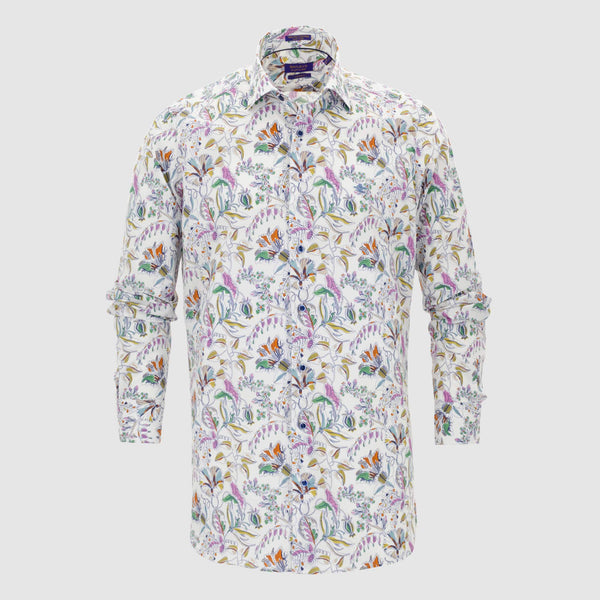 Camisa estampada diseño slim Fit 107826