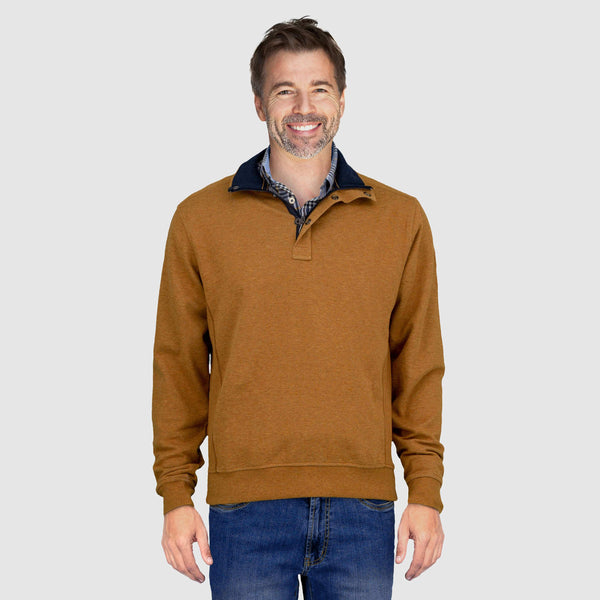 Sweater jaspeado, cuello alto 823116