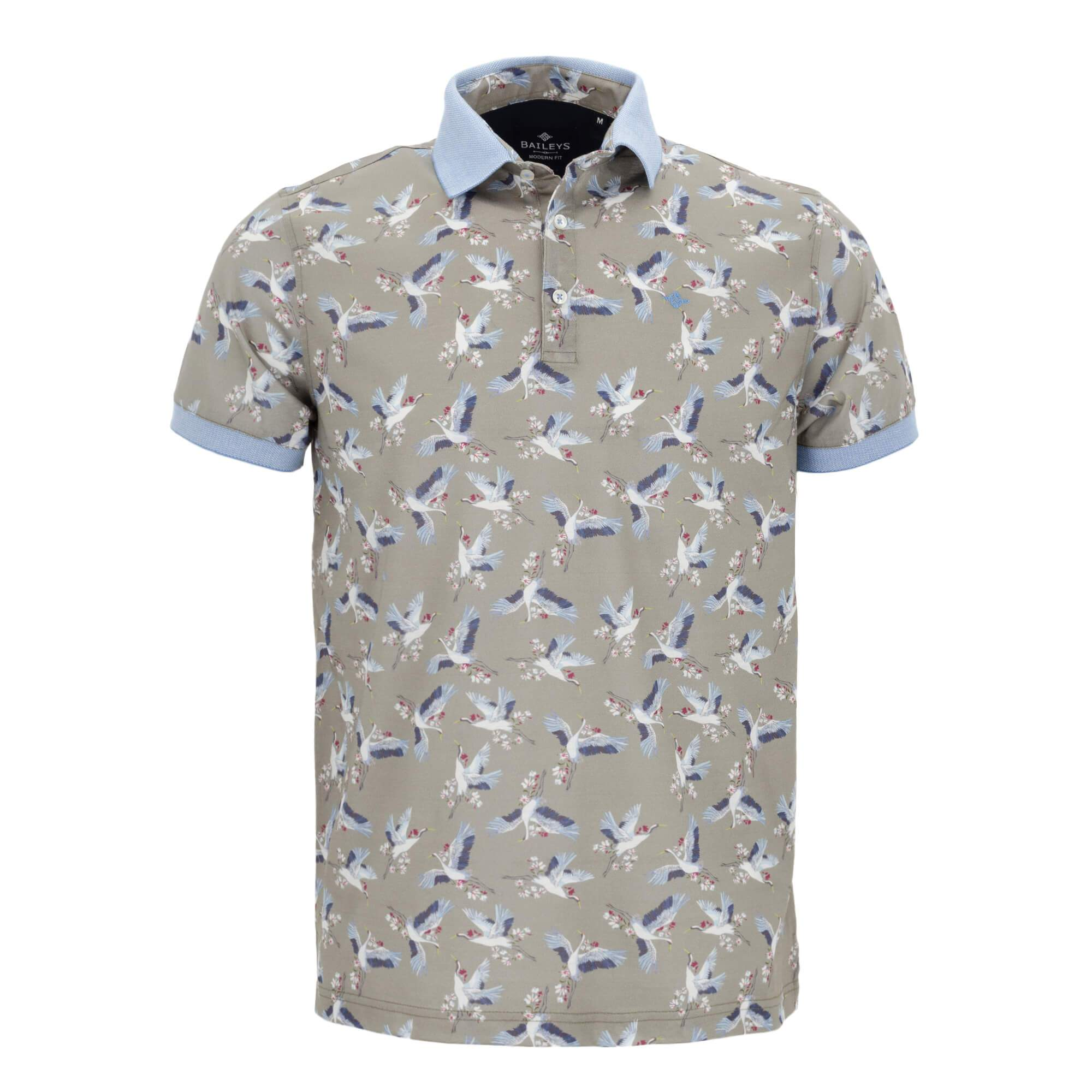 Polo estampado con corte slim fit 916583