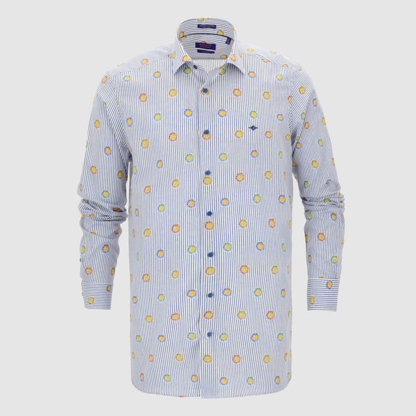 Camisa estampada diseño slim Fit 107864